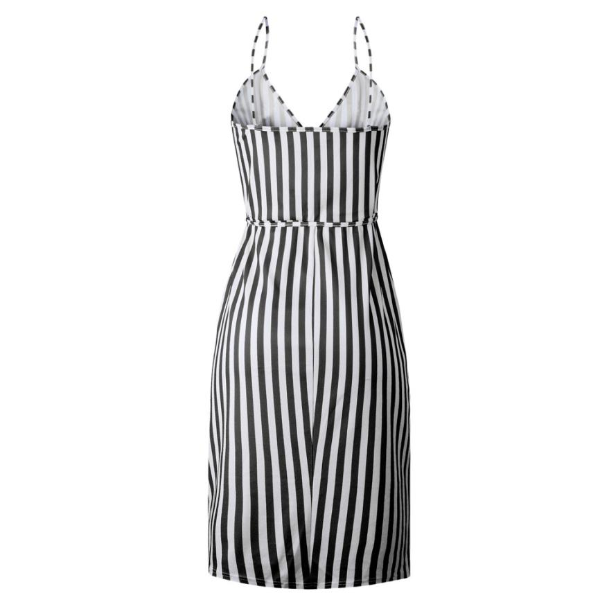 HTB11MuiIbGYBuNjy0Foq6AiBFXa8 KANCOOLD dress Women Stripe Printing Sleeveless Off Shoulder Dress Evening Party Vest Empire Sashes dress women 2018AUG1