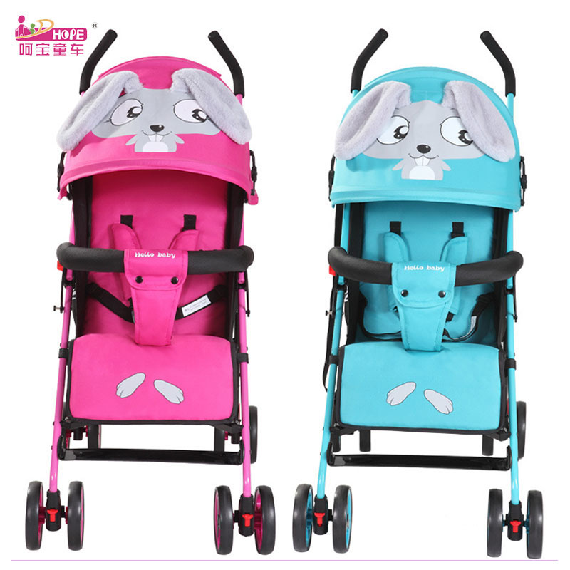 HOPE Cartoon Baby Carriage Lightweight Baby Stroller Portable Backpack Travel Car Stroller 170 Degree Flat Lying Baby Pram 0~3Y
