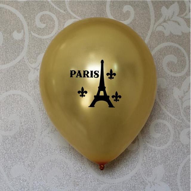12 Paris Tower Party Theme Wedding Latex Balloons Bridal Shower Anniversary 50th 60th Birthday Decoration