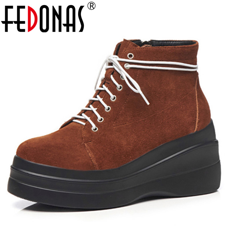 FEDONAS New Fashion Sexy Women's Ankle Boots Lace Up High Heels Punk Platform Women Autumn Winter Snow Boots Ladies Shoes Woman children s down jacket boys in the long section 2018 new big children korean version of the thick winter coat large fur collar