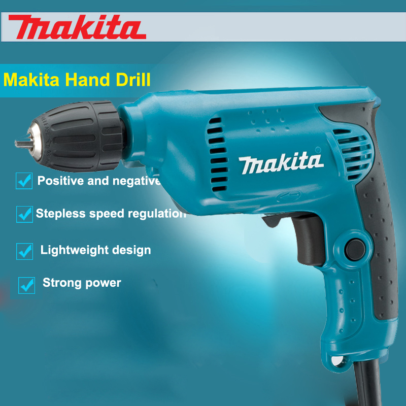 Makita 6413 Drill (Variable Speed Reversible) 450W 3000rpm 10MM Drilling, fastening and stirred Compact design and strong tools