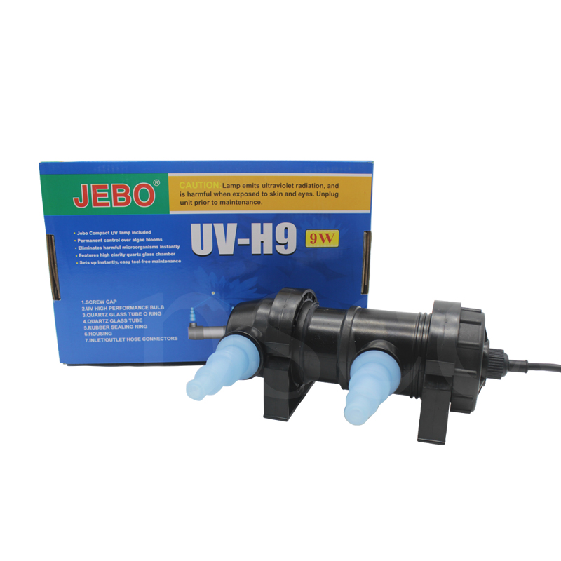 JEBO UV H9 9W Wattage UV Sterilizer Lamp Light Ultraviolet Filter Clarifier Water Cleaner For Aquarium