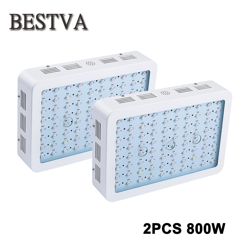 2PCS LED grow light 800W Full Spectrum indoor Medical Plants LED Grow light Panel designed with newsest 10W double chips LEDs