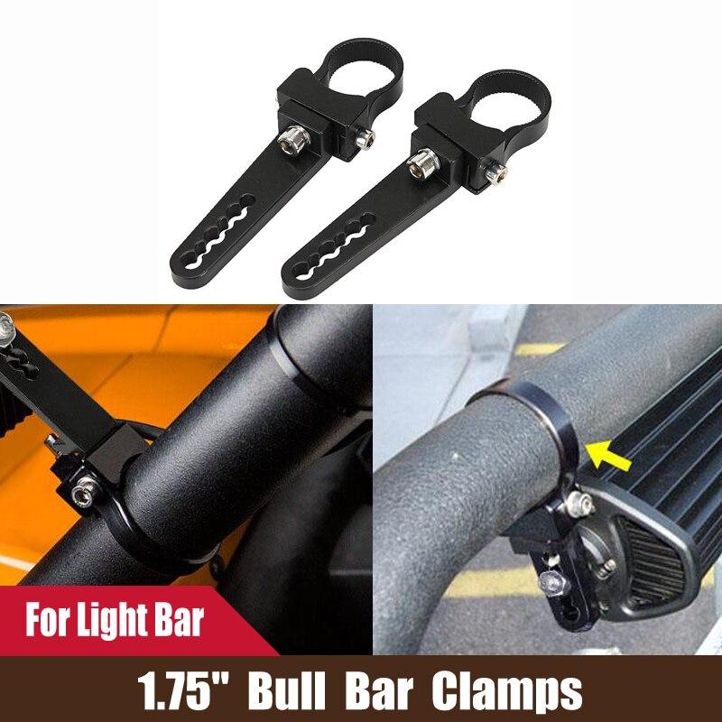 "2PCS 1.75/"" INCH BULLBAR MOUNTING BRACKETS TUBE CLAMP HID SPOT FOG LED LIGHT BAR"