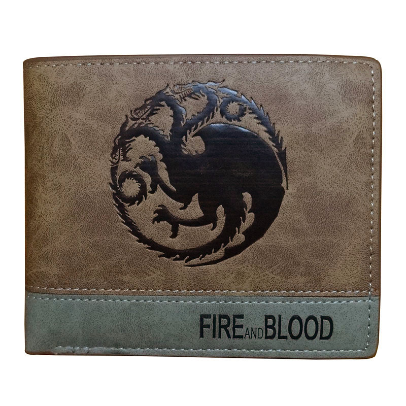 New 2018 Game of Thrones Wallets Leather Card Holder Bags Dollar Price Gifts Purse with Coin Pocket Bags Men Women Short Wallet anime attack on titan men wallets pu leather cartoon short purse with zipper coin pocket gifts teenager dollar price wallet