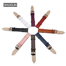 Leather watch strap 12/14/16/18/20mm 8 colors soft Watchband smooth surface clock Ladies Watch band 18mm 2016 watchbands 18 J012 все цены