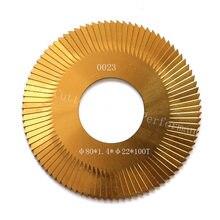 0023 fresa lado 80-1.4-22 chave cortador de entalho 100Z revestimento de Estanho para WENXING 100G 202A máquinas de corte chave (1 peça)