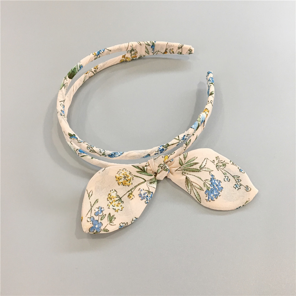 Korea Fabric Bunny Hair Bands Rabbit Ears Hairband Flower Crown Headbands For Girls Hair Bows Hair Accessories D Girl's Hair Accessories Girl's Accessories