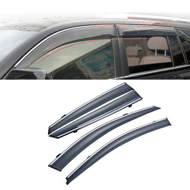 For Toyota Highlander 2008 2009 2010 2011 car body Stick lamp Plastic  Window glass Wind Visor Rain Sun Guard Vent part 4pcs 281c4a7ee17