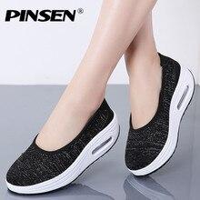 PINSEN 2019 Spring Women Flats Shoes Bre