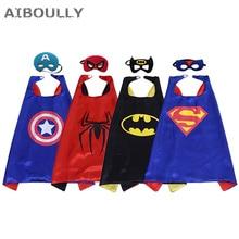 ФОТО the avengers mask super hero superman spiderman cape batman cloak kids boys birthday gift costume cosplay party decor supplies
