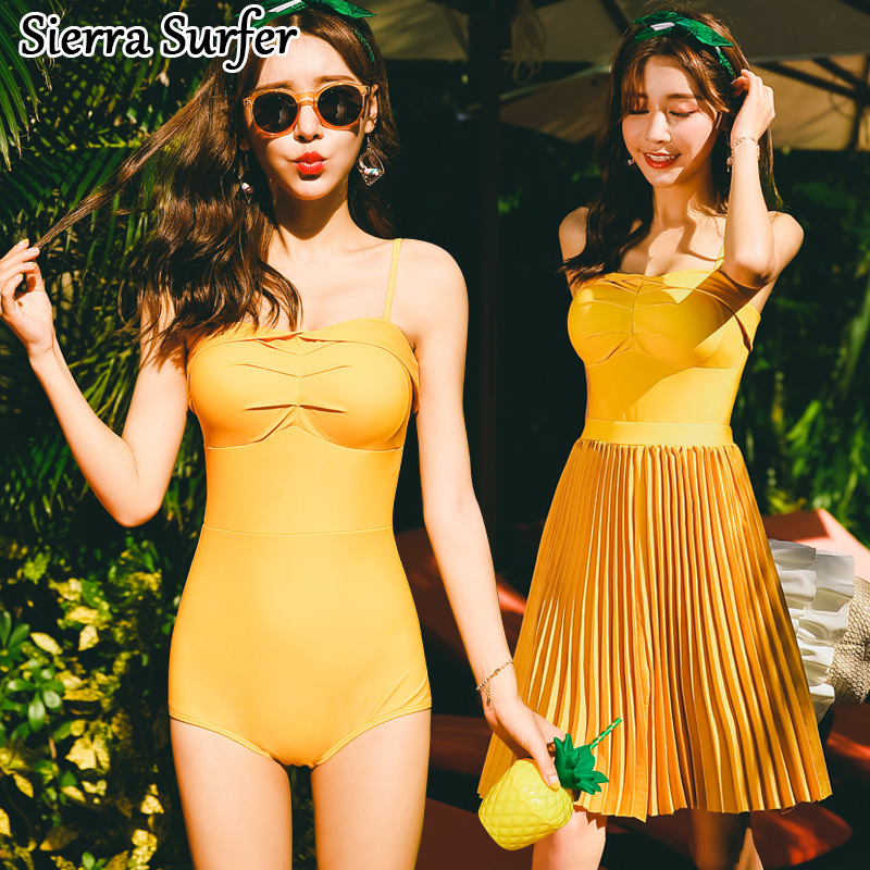 One Piece Swimsuit Lady Bikini 2018 May Beach Girls Bikinis Women Woman New Sexy Triangle Skirt 8056 Badpak Badmode Traje De one piece swimsuit cheap sexy bathing suits may beach girls plus size swimwear 2017 new korean shiny lace halter badpakken