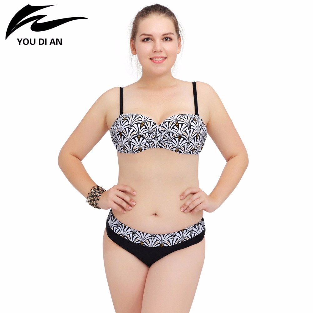 YOUDIAN 2017 New Bikinis Women Swimsuit Retro Push Up Bikini Set Vintage Plus Size Swimwear Bathing Suit Swim Beach Wear 4XL kayvis 2017 new bikinis women swimsuit retro push up bikini set vintage plus size swimwear bathing suit swim beach wear 3xl