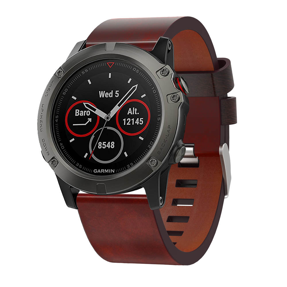 26mm Easy Fit Watch Strap For Garmin Fenix 5X 5X Plus Quick Release Strap Leather Watchband for Garmin Fenix 5X Wrist Band Sport in Watchbands from Watches