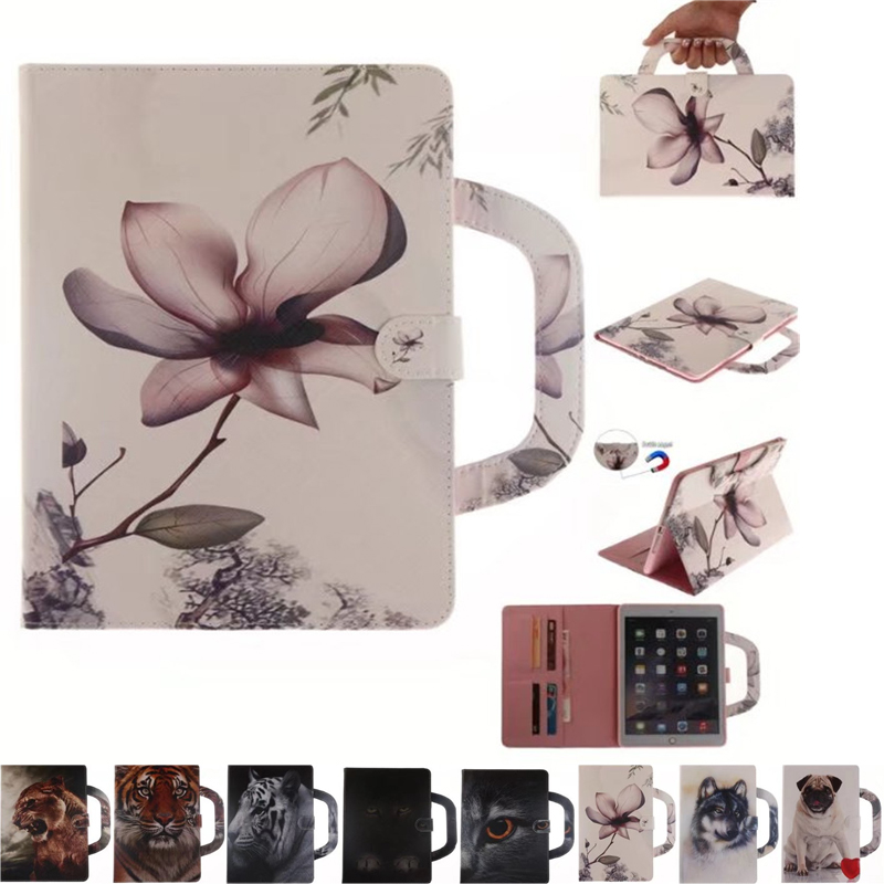 9 style Luxury animal Leather Case for iPad mini4 Briefcase Auto Wake Up Sleep Hand Belt Holder Stand Flip Cover for iPad mini 4