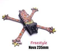 FPV Nova Freestyle 235 235mm Wahre X rahmen 3k Volle Carbon Faser w/4mm arme für Quadcopter FPV Racing Drone|Teile & Zubehör|Spielzeug und Hobbys -