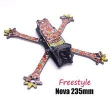 FPV Nova Freestyle 235 235mm gerçek X çerçeve 3k tam karbon Fiber w/4mm arms quadcopter FPV için yarış Drone