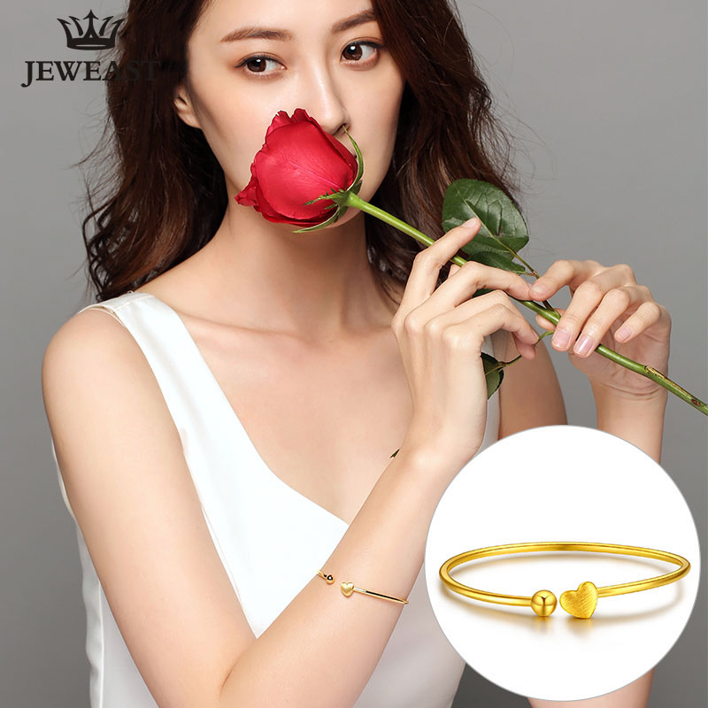 24K Pure Gold Bracelet Real 999 Solid Gold Bangle Elasticity Woman Fashion Trendy Classic Party Fine Jewelry Hot Sell New 2018 24k gold ring pure real pattern exquisite fine jewelry mini resizable design fashion female new hot sale 999 trendy party women