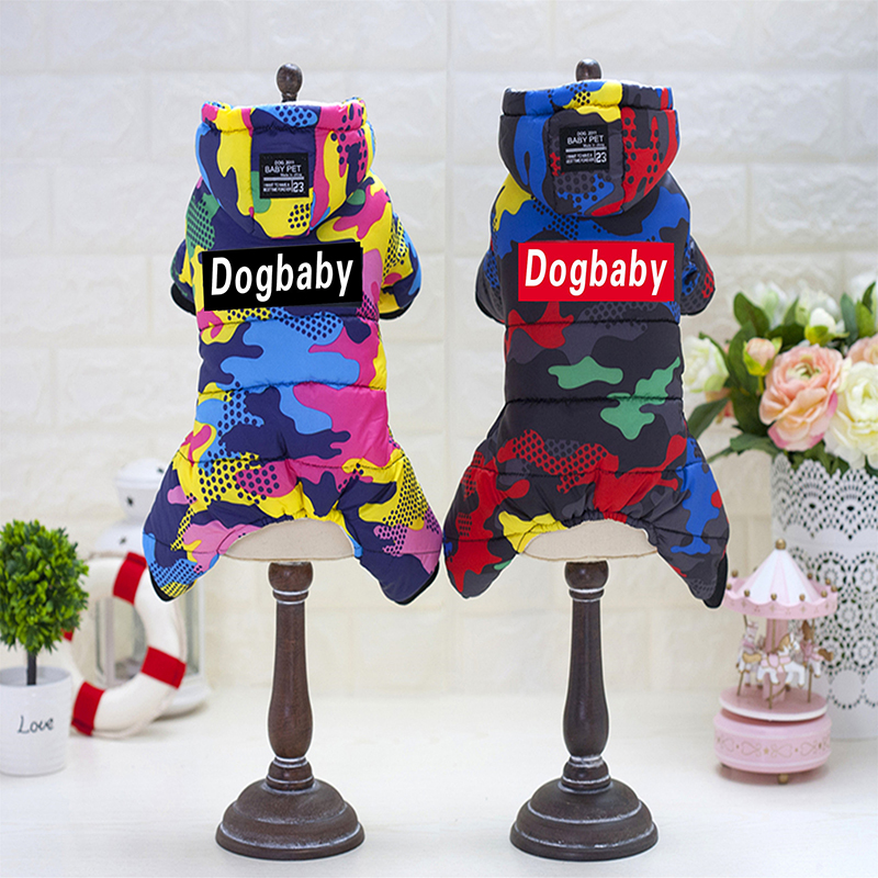 Winter Warm Camouflage Dog Clothes For Small Dogs Coat Jacket Waterproof Puppy Jumpsuit Chihuahua Pet Clothing Costume Apparel in Jumpsuits Rompers from Home Garden