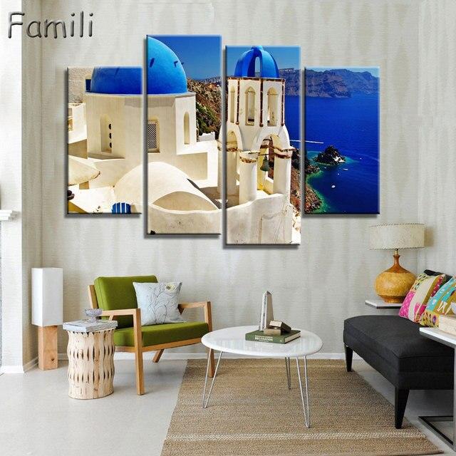 4 Pannello Moderna Pittura Decorativa Domestica di Illustrazioni ...