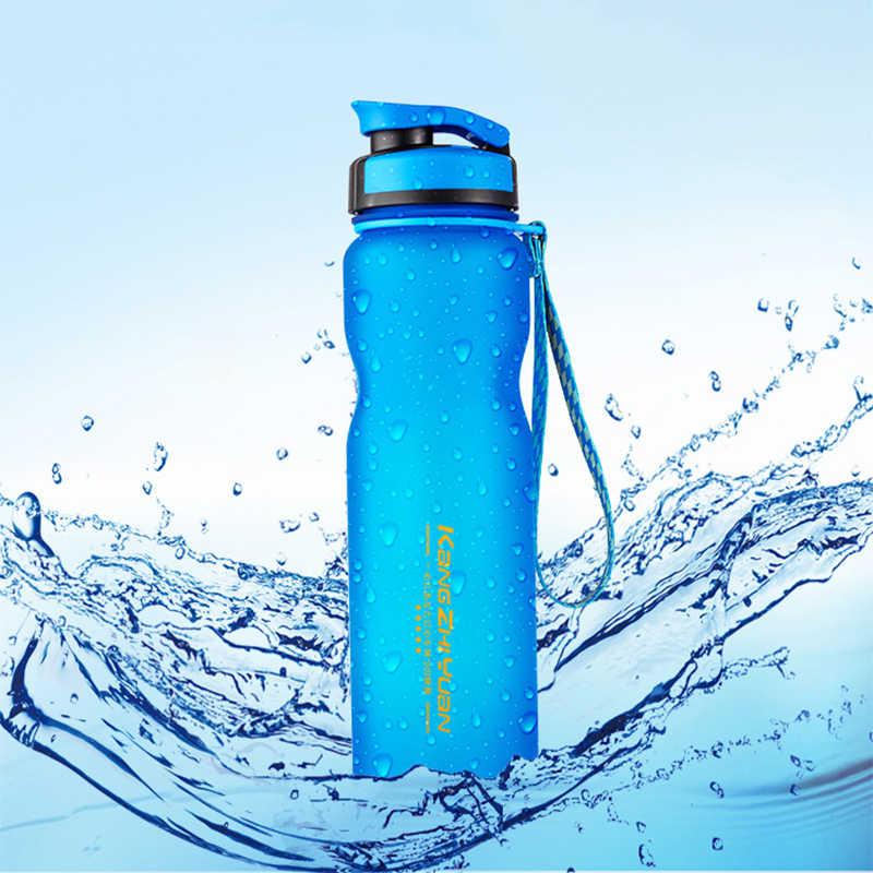 الرياضة رياضة زجاجة كرستالية للمياه مضخة الرياضية البروتين شاكر في الهواء الطلق ركوب كوب الفضاء 1000 مللي بلدي المحمولة حبل شرب زجاجة