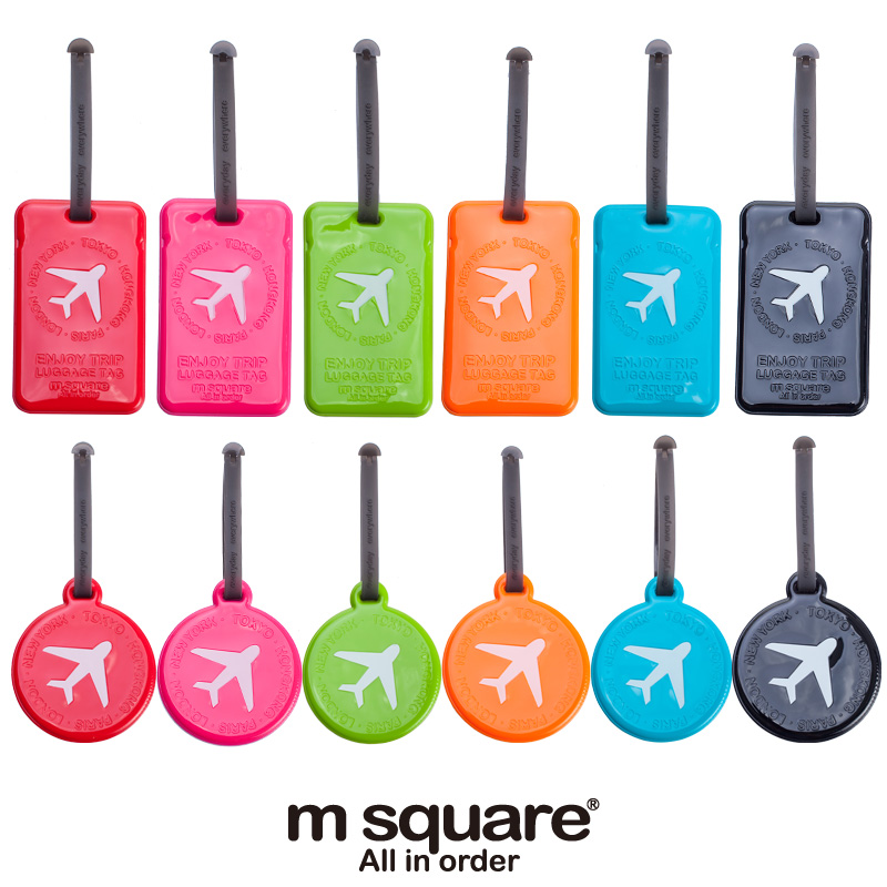Well-known M Square Travel Luggage Tag Plastic Cute Luggage Tags Silicone  HO86