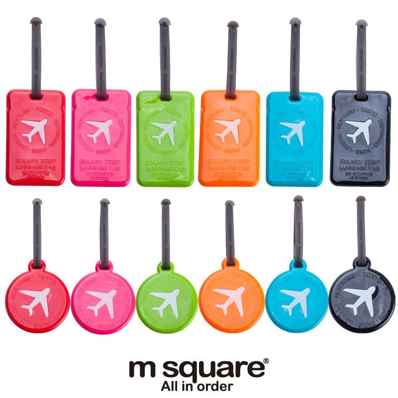 Aliexpress.com : Buy M Square Travel Luggage Tag Plastic Cute ...