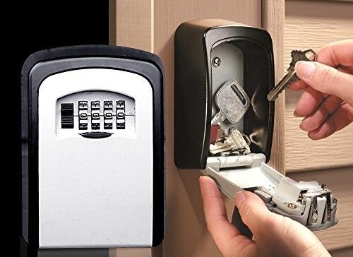 Casa de segurança Durável Caixa de Armazenamento de Dinheiro Chave Hider 4 Código Secreto De Segurança Dígitos Senha de Bloqueio Montado Na Parede Combinação Chaves Trancadas