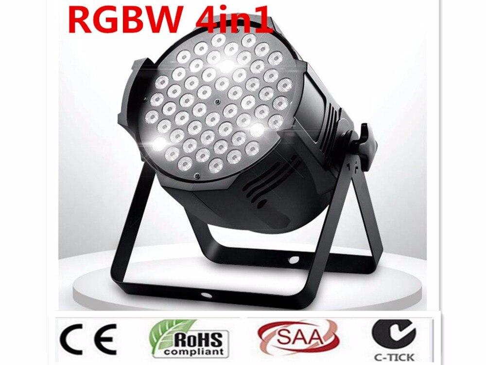 2pcs/lot Stage Lighting Effect Led Par 54x8w Rgbw 4in1 Quad Led Par Can Par64 Led Spotlight Dj Projector Wash Lighting Stage Light Light