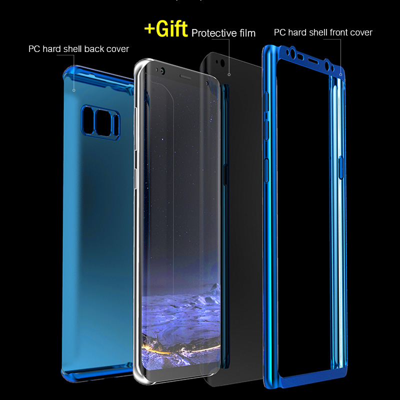 360 Degree Plating Full Cover Phone Samsung Galaxy S9 S8 Plus Shockproof Cover For Samsung S7 Edge Note 8 Case