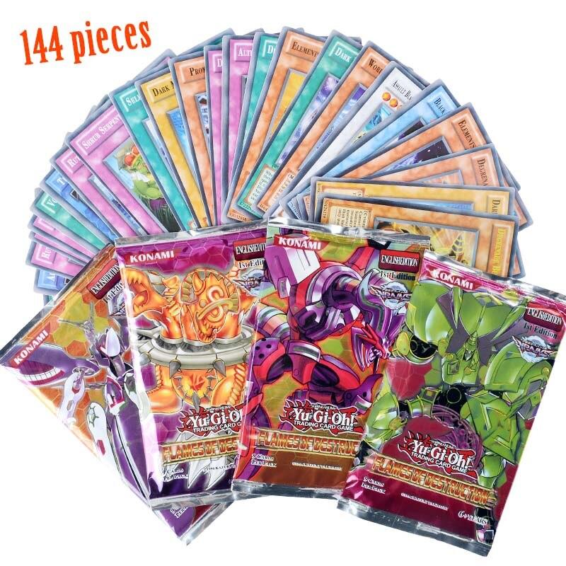 Yugioh 216 шт набор с коробкой yu gi oh Аниме игровая коллекция карт детские игрушки для мальчиков - Цвет: 144pcs