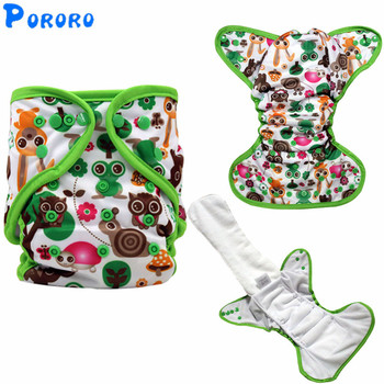 цена на Baby Washable Cloth Diaper Nappy Cover Pockets  AIO PUL Digital Printed Baby Cloth Diapers Nappy Changing Reusable Cloth Diapers