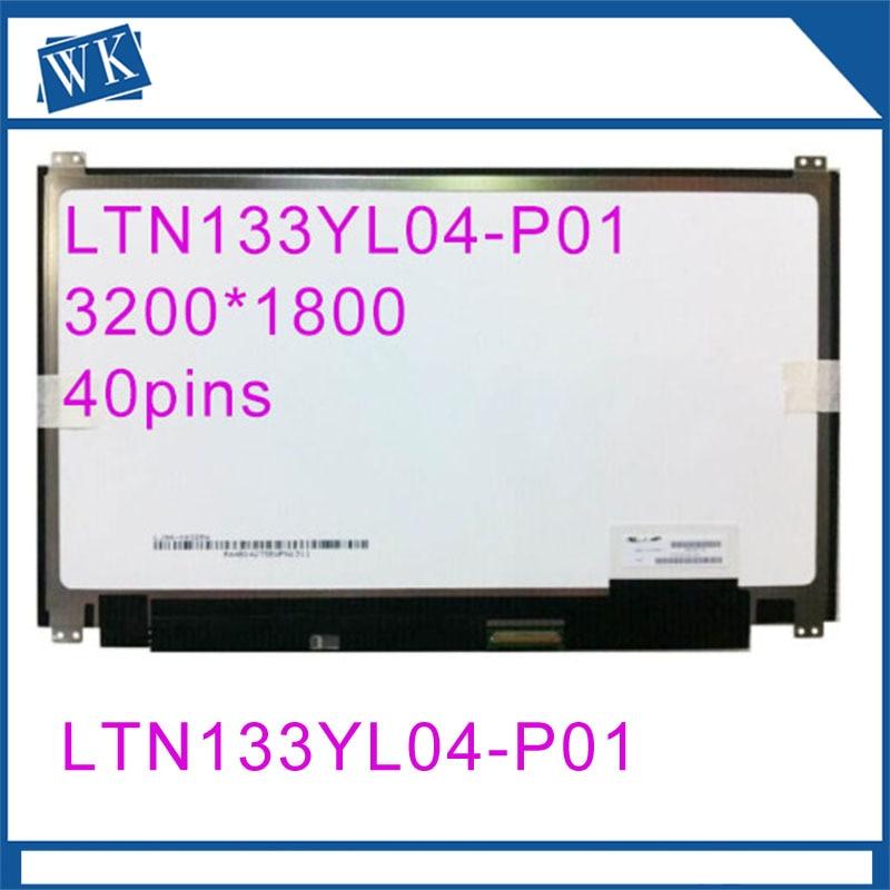 New 13.3 Laptop lcd led screen LTN133YL06-H01 LTN133YL04-P01 For hp Laptop 3K SCREENNew 13.3 Laptop lcd led screen LTN133YL06-H01 LTN133YL04-P01 For hp Laptop 3K SCREEN