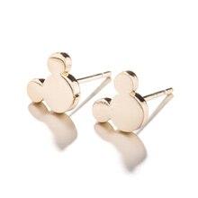 Jisensp Fashion Women Mickey Earrings Cartoon Mouse Stud Earrings Mother's Day Gift Cute Animal Small Earings aretes de mujer