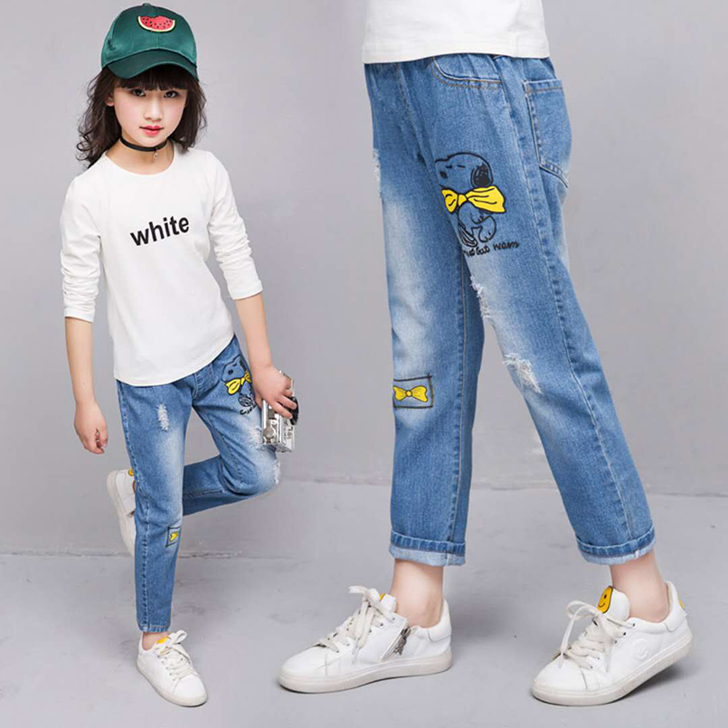 Teen girls embroidered pants 10
