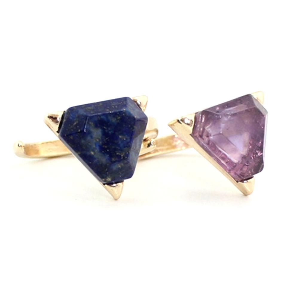 Բնական քար Druzy Quartz Crystal Women Rings Drusy Green Rose - Նորաձև զարդեր - Լուսանկար 3