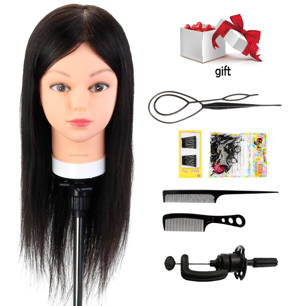 Neverland Hairdressing Mannequin Training Head With Human