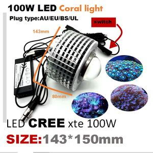 Image 5 - 100w cree led aquário luz marinha recife coral lâmpada do tanque de peixes para água salgada peixes marinhos de água doce pet iluminação cultivada