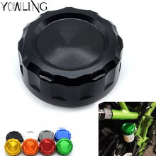 цена New Aluminum High quality Motorcycle Front Fluid Reservoir Cap Cover Cylinder Reservoir Cover for Kawasaki Z900 Z1000 Z800 Z750