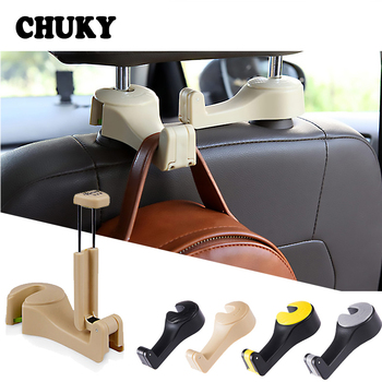 CHUKY Car Back Seat Multifunction Mobile Phone Frame Sundries Storage Hook For Nissan Juke Tiida Subaru Ford mondeo mk4 mk3 Opel image