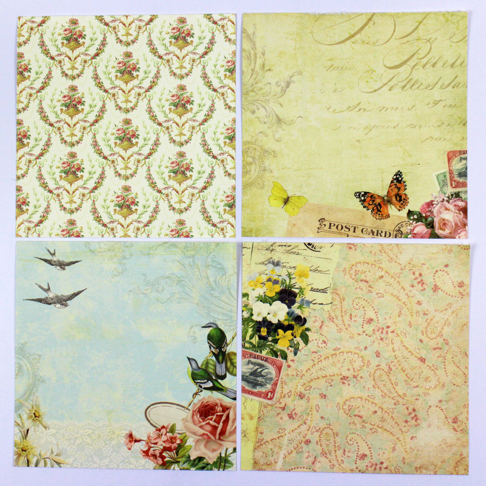 Enogreeting 7 Cute Vintage Flower Birds And Butterfly Pattern