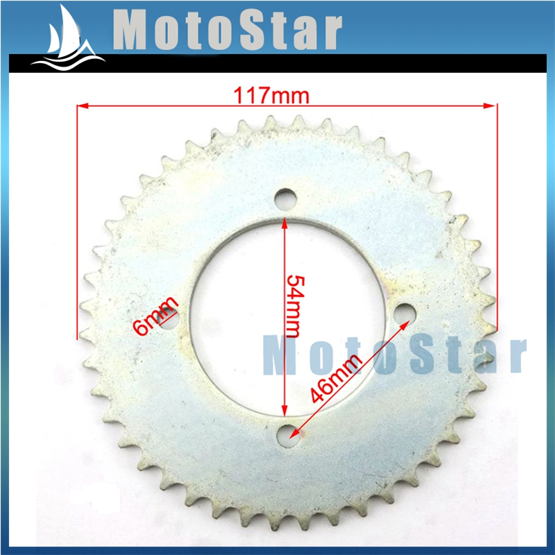 25H 80T Tooth 54MM Chain Sprocket For 2 Stroke 43cc 49cc Engine Chinese Mini Moto Kids Pocket Bike Goped Scooter ATV Quad