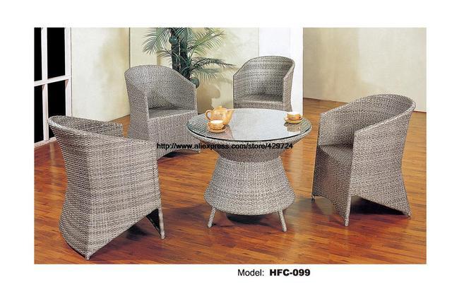 Sedie Schienale Alto Design : New modern design europeo schienale alto chiar tavolo rattan set