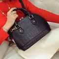 Shell bag women's handbag Small women's casual handbag messenger bag brief fashion stone pattern shell bags
