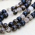 Многоцветный черный арбуз турмалин круглые бусины аксессуары ремесла широкий бусины джаспер нефритовый камень женщин девушки подарки 8-10-12mm