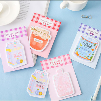 Kawaii Rainbow jar sticky notes  Memo Pad weekly plan Post stationery School Supplies Planner Label stickers 1x cute wreath post it notes weekly plan sticky notes post it memo pad kawaii stationery school supplies planner stickers paper