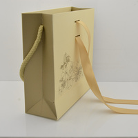 Wholesale 10Pcs Europe Brand Beige Spring Style Paper Gift Bag FIT Original Pan Jewelry Box Packaging