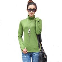 Fall Winter Cashmere Wool Sweater Button Women Turtleneck Pullover Ladies Shirt Hot Sale Female Warm Tops Sale Clothing