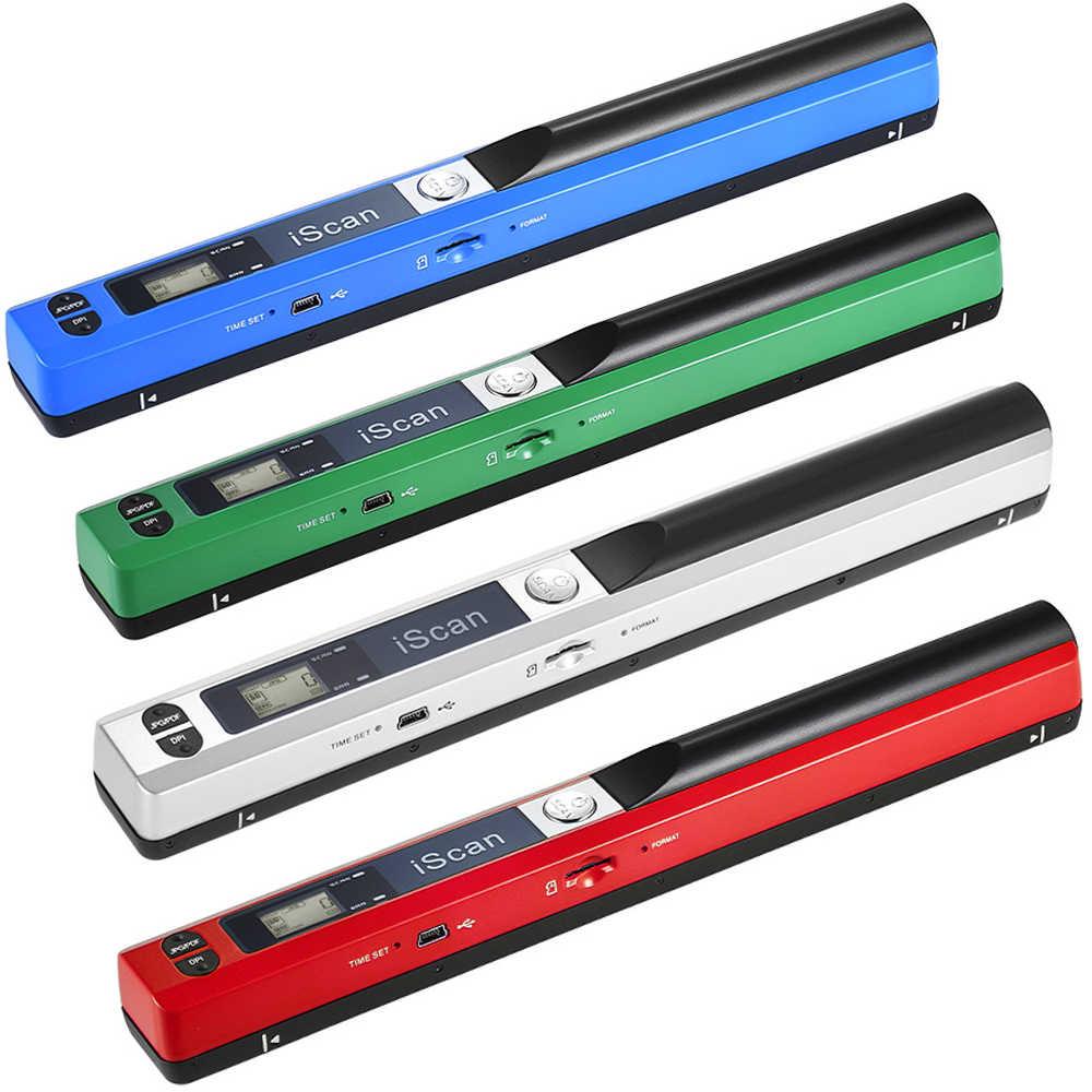 Portable Handheld Wand Scanner Nirkabel A4 Ukuran 900DPI Jpg/Pdf Format LCD Display untuk Dokumen Bisnis Reciepts Buku gambar