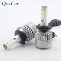 QvvCev Auto Lamp H4 H11 H8 9006 HB4 H3 HB3 COB H1 LED Car Headlight 72W 6500K High Low Beam H7 LED Auto Bulb Automobiles Light